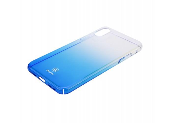 Чехол для iPhone X Baseus Glaze голубой