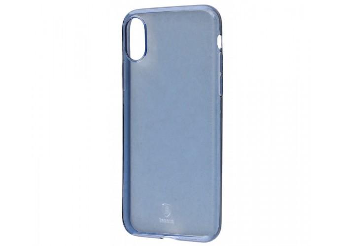 Чехол для iPhone X Baseus Simple (TPU) синий