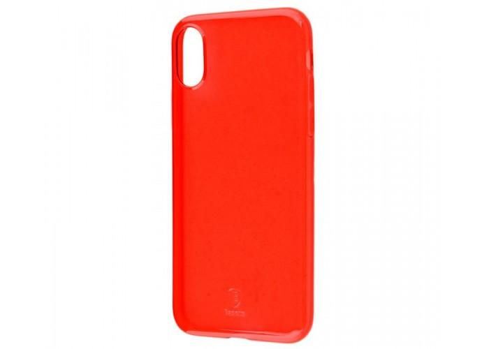Чехол для iPhone X Baseus Simple (TPU) красный