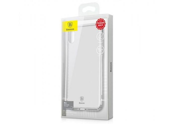 Чехол для iPhone X Baseus Simple (TPU) прозрачный