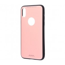 Чехол для iPhone X White Knight Glass розовый