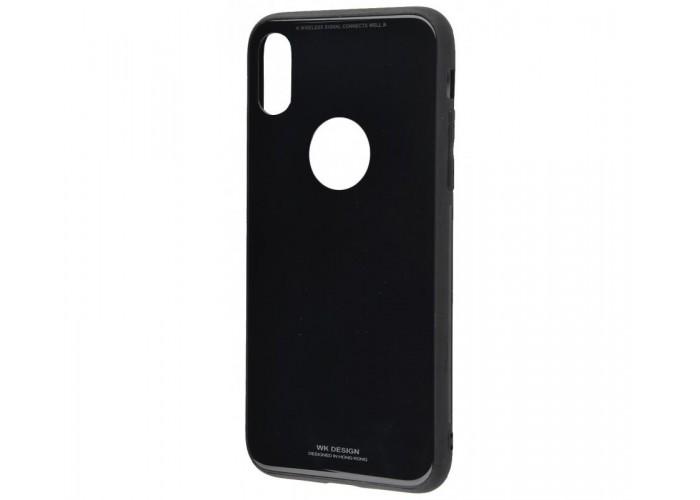 Чехол для iPhone X White Knight Glass черный