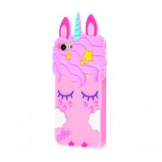 Чехол для iPhone 7/8 розовый единорог