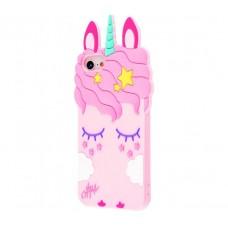 Чехол для iPhone 7/8 светло-розовый единорог
