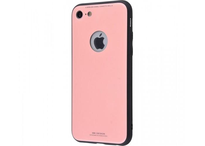 Чехол для iPhone 7/8 White Knight Pictures Glass розовый