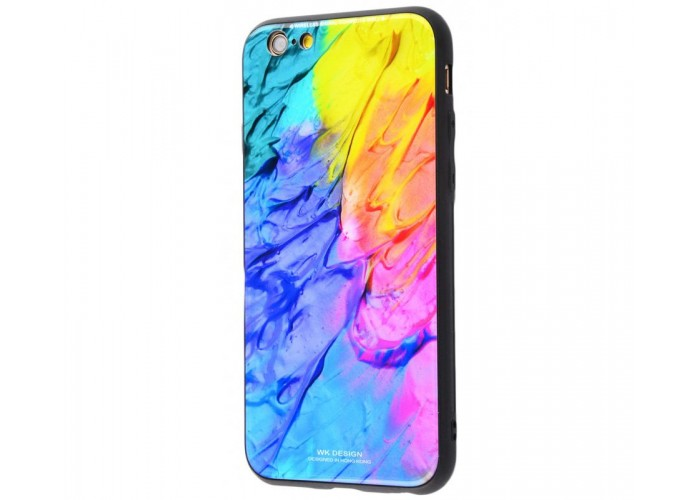 Чехол для iPhone 7/8 White Knight Pictures Glass мрамор (25)