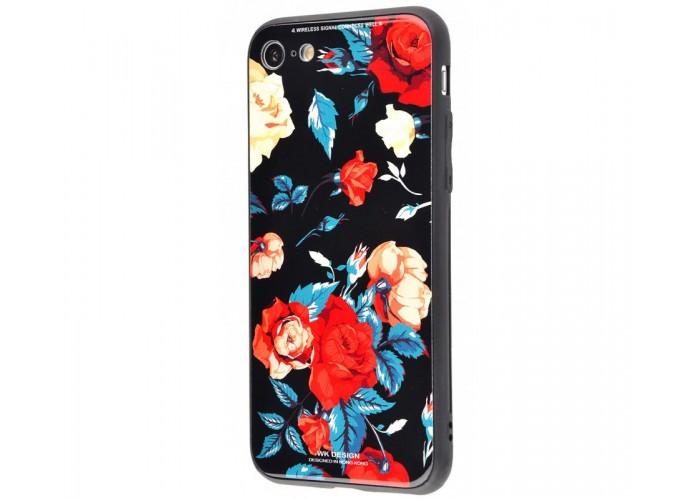 Чехол для iPhone 6 Plus/6s Plus White Knight Pictures Glass розы
