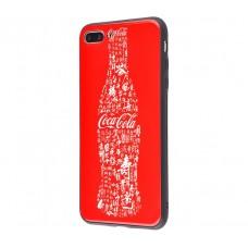 Чехол для iPhone 7 Plus/8 Plus White Knight Pictures Glass кока кола