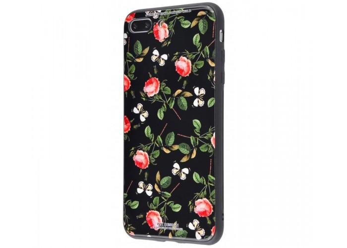 Чехол для iPhone 7 Plus/8 Plus White Knight Pictures Glass розы с бабочками