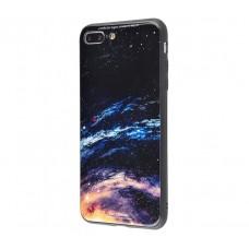 Чехол для iPhone 7 Plus/8 Plus White Knight Pictures Glass галактика