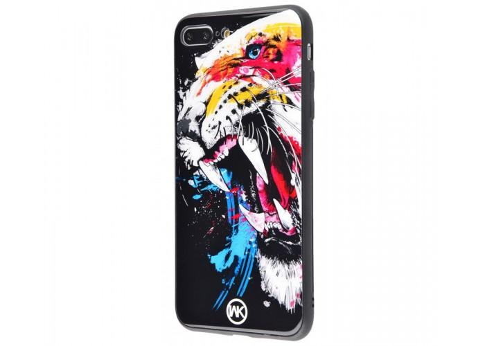 Чехол для iPhone 7 Plus/8 Plus White Knight Pictures Glass злой тигр