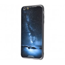 Чехол для iPhone 7/8 White Knight Pictures Glass звездное небо