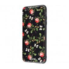Чехол для iPhone 7/8 White Knight Pictures Glass розы с бабочками