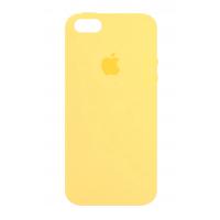Силиконовый чехол Apple Silicone Case Yellow для iPhone 5/5s/SE (Реплика)