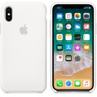 Силиконовый чехол Apple Silicone Case White для iPhone X /10 (копия)