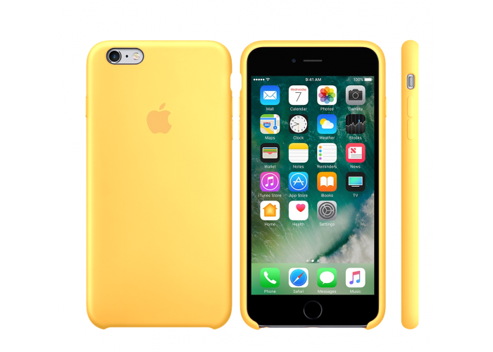 Силиконовый чехол Apple Silicone Case Yellow для iPhone 6/6s (копия)
