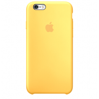 Силиконовый чехол Apple Silicone Case Yellow для iPhone 6 Plus/6s Plus