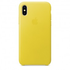 Кожаный чехол Apple Leather Case Spring Yellow для iPhone X / Xs
