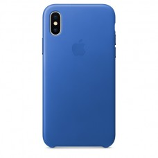 Apple Leather Case  Electric Blue для iPhone X
