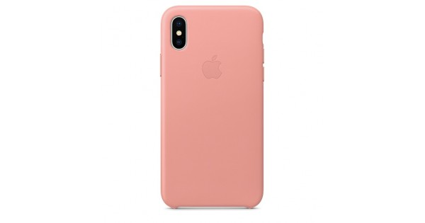 huge selection of 0578a 34a73 Apple Leather Case Soft Pink для iPhone X