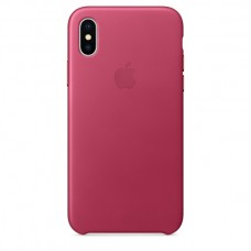 Apple Leather Case Pink Fuchsia для iPhone X