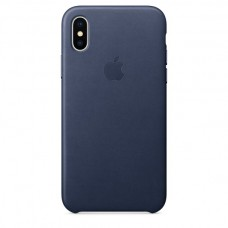 Apple Leather Case Midnight Blue для iPhone X