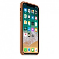 Apple Leather Case Saddle Brown для iPhone X