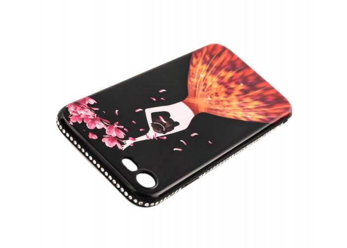 """Чехол для iPhone 7/8 Magic Girl черный """"лепестки"""""""