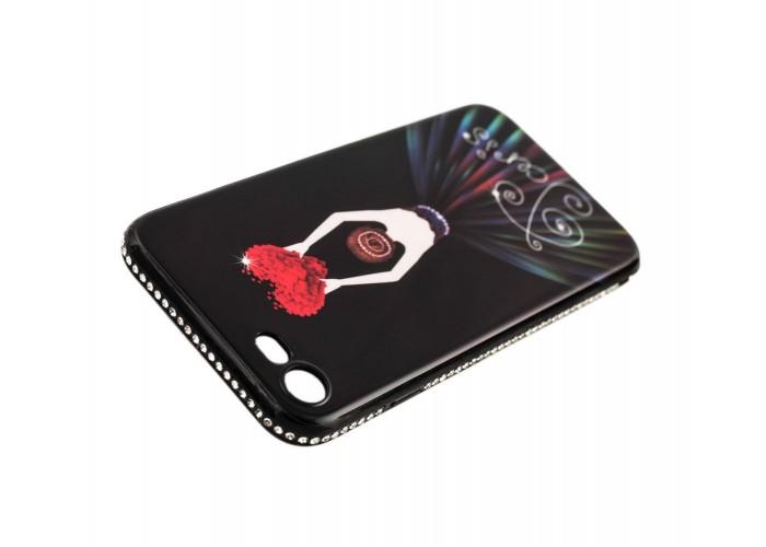 """Чехол для iPhone 7/8 Magic Girl черный """"сердце"""""""