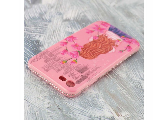"Чехол для iPhone 7/8 Magic Girl розвый ""сакура"""