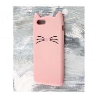 Чехол для iPhone 7/8 кот розовый