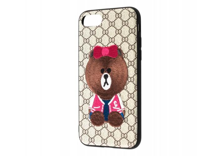 Чехол для iPhone 7/8 Embroider мишка