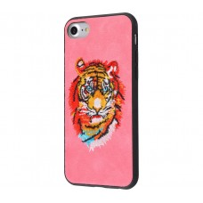 Чехол для iPhone 7/8 Embroider Animals Soft тигр