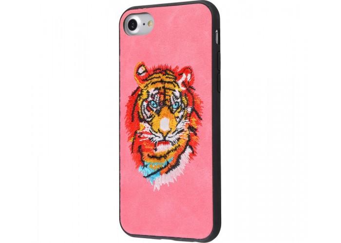 Чехол для iPhone 7/8 Embroider Animals Soft тигр