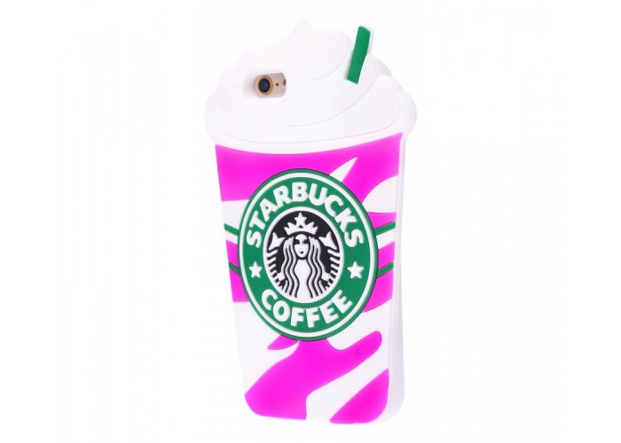 Чехол для iPhone 7/8 Starbuks розовый