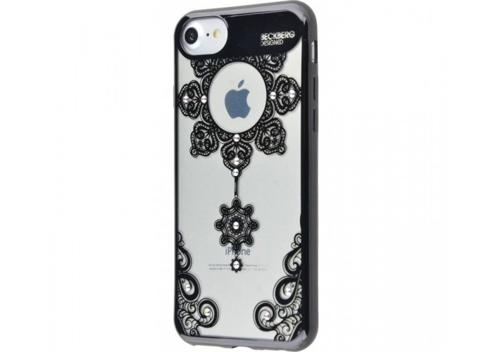 Чехол для iPhone 7/8 Beckberg Monsoon черный подсолнух