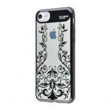 Чехол для iPhone 7/8 Beckberg Monsoon цветочная лоза черный