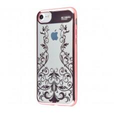 Чехол для iPhone 7/8 Beckberg Monsoon цветочная лоза розовый