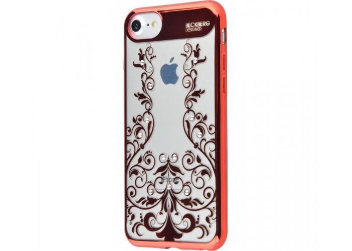 Чехол для iPhone 7/8 Beckberg Monsoon цветочная лоза красный