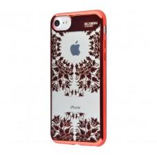 Чехол для iPhone 7/8 Beckberg Monsoon время красный