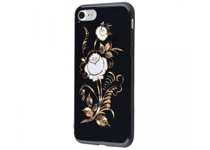 Чехол для iPhone 7/8 Glossy Rose белый