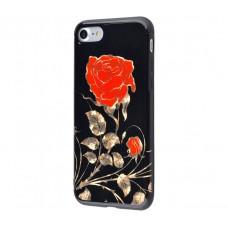 Чехол для iPhone 7/8 Glossy Rose красный