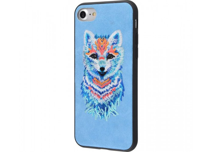 Чехол для iPhone 7/8 Embroider Animals Soft волк