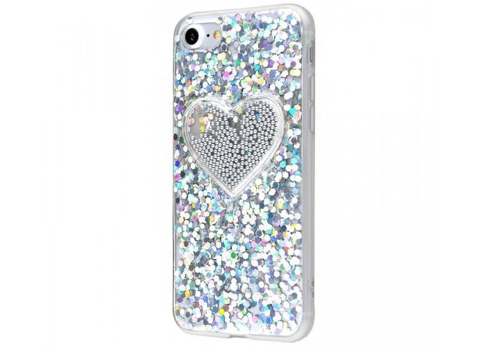 Чехол для iPhone 7/8 Diamond Hearts серый