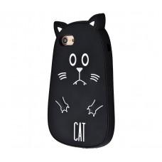 Чехол для iPhone 7/8 Fat Animals черный кот