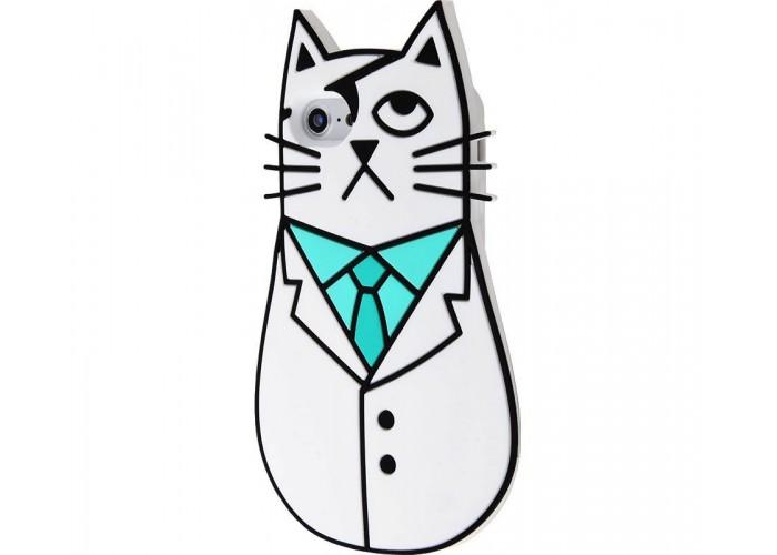 Чехол для iPhone 7/8 кот пират белый