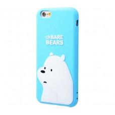 Чехол для iPhone 7/8 Bare Bears белый медведь