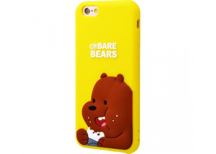 Чехол для iPhone 7/8 Bare Bears бурый медведь