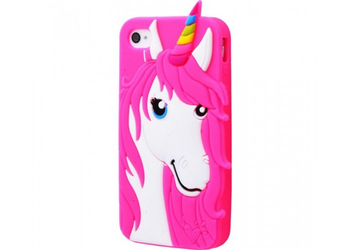 Чехол для iPhone 7/8 Unicorn Rainbow розовый