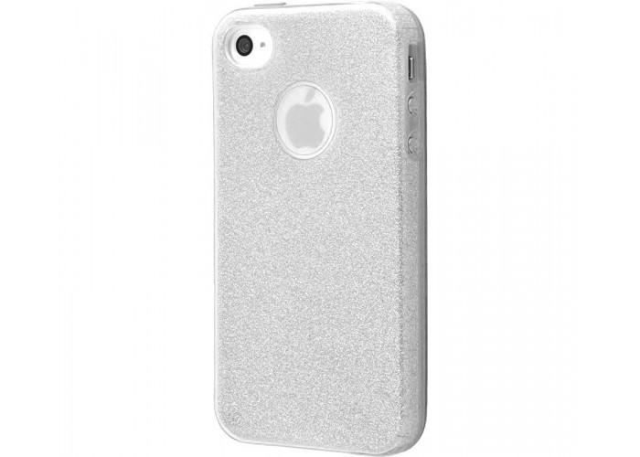Чехол для iPhone 7/8 Shining Glitter Case с блестками серебро